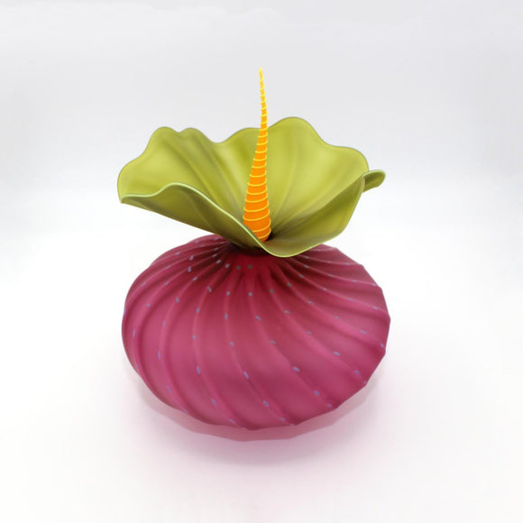 Art Glass Bobtanical Urchin Fuchsia
