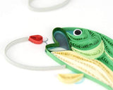 Quilled Gone Fishing Greeting Card
