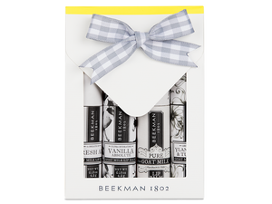 Beekman 1802 Clear as Day 4-Piece Lip Balm Set