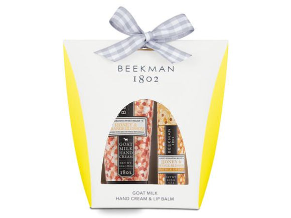 Beekman 1802 Honey and Orange Blossom Hand and Lip Hydration Kit