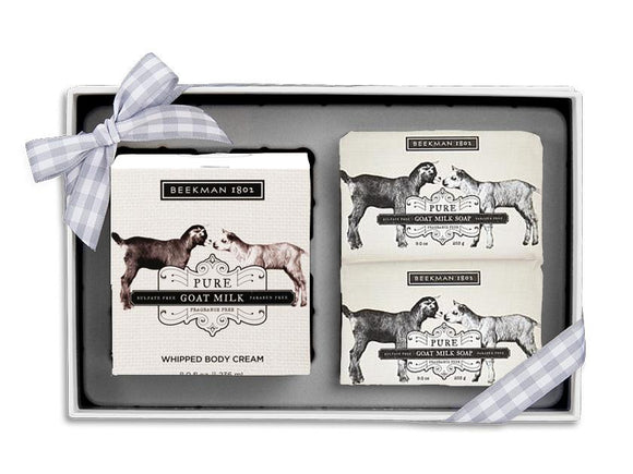 Beekman 1802 Pure Goat Milk Soap and Whipped Body Cream Trio