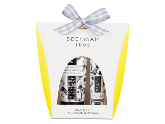 Beekman 1802 Vanilla Absolute Hand and Lip Hydration Kit