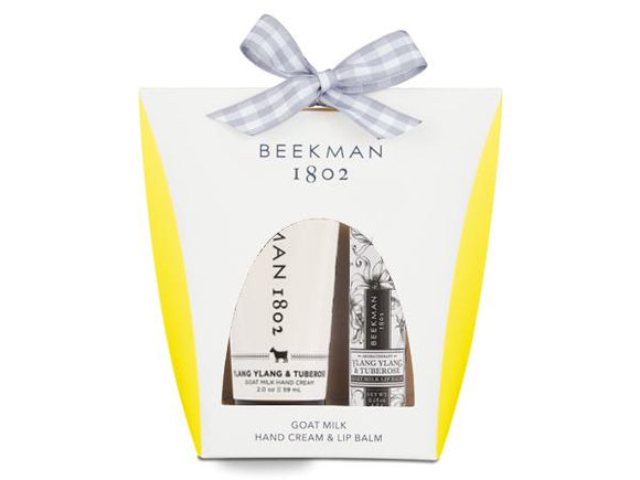 Beekman 1802 Ylang Ylang and Tuberose Hand and Lip Hydration Kit