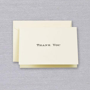 Crane Paper Black Engraved Thank You Boxed Notes