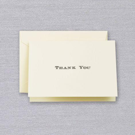 Black Engraved Thank You Boxed Notes
