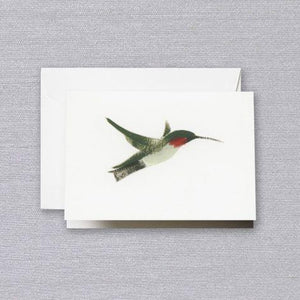 Crane Paper Brushstroke Hummingbird Pearl White Boxed Notes