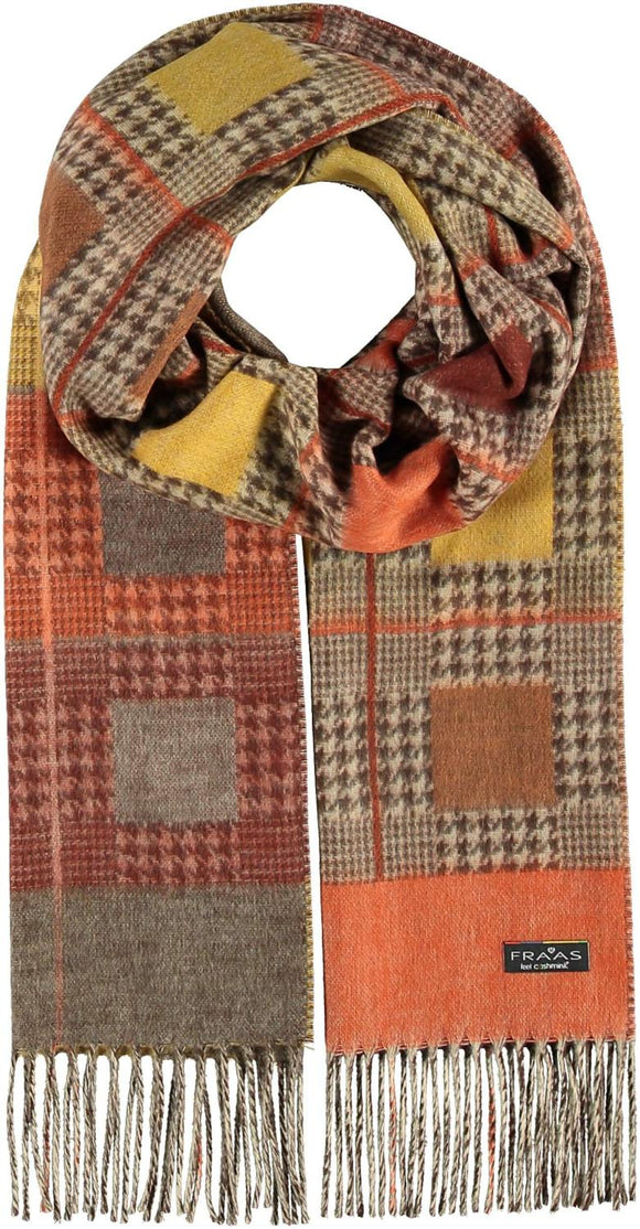 Checkered Houndstooth Scarf Orange
