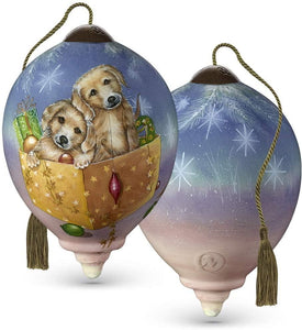 Christmas Puppies Ornament