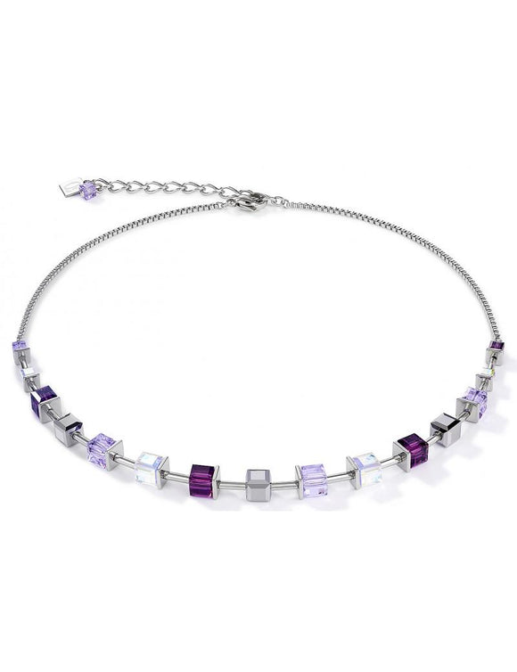 Coeur de Lion Amethyst Geocube Necklace