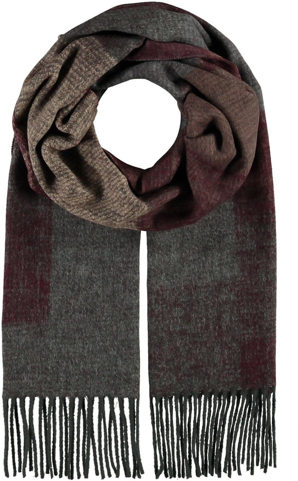 Colorblock Scarf Wine