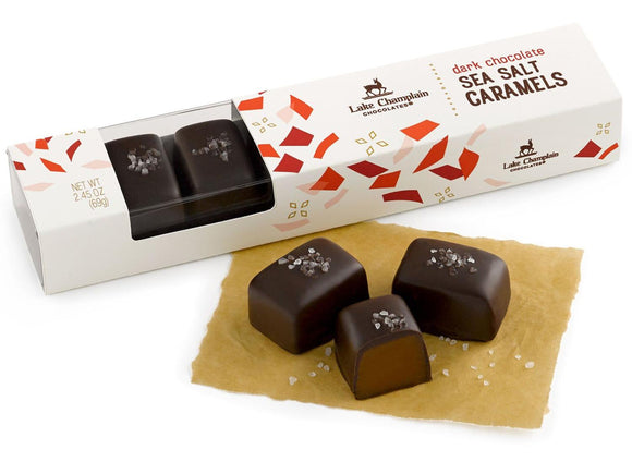 Dark Chocolate Sea Salt Caramels 7pc