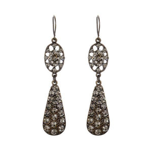Swarovski Crystals Double Drop Earrings