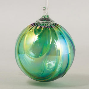 Emerald Draped Classic Round Ornament