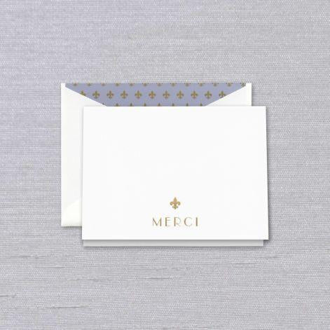 Engraved Merci Thank You Boxed Notes