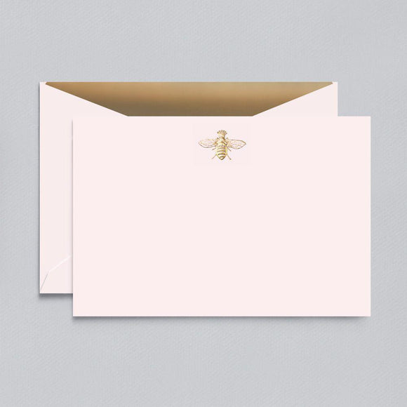 Engraved Queen Bee Light Pink Boxed Cards