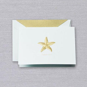 Crane Paper Engraved Starfish Thank You Beach Glass Boxed Notes