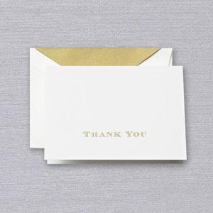 Engraved Thank You Ecru Boxed Notes