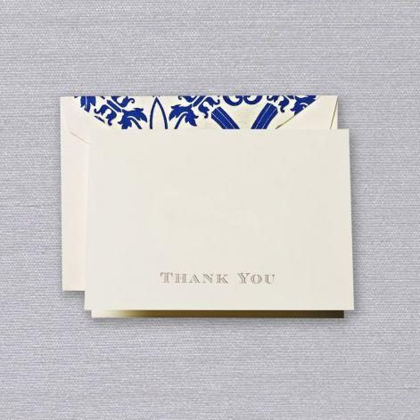 Engraved Thank You Ecru Boxed Notes with Regency Envelope Liner