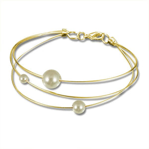 Gold-Filled Wire Pearl Handmade Bracelet