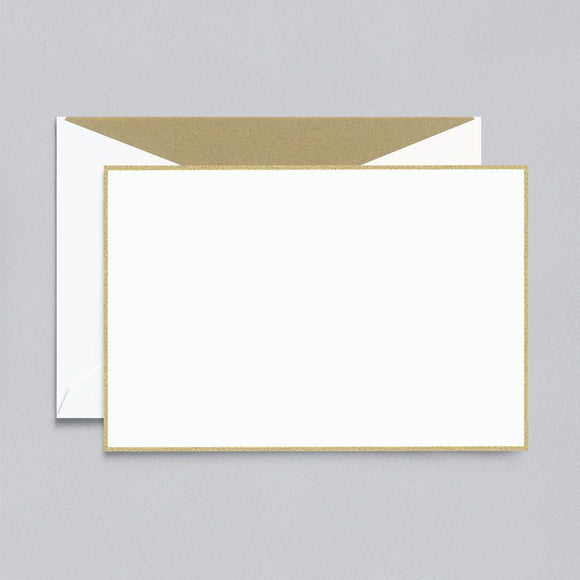 Gold Bordered Pearl White Boxed Cards