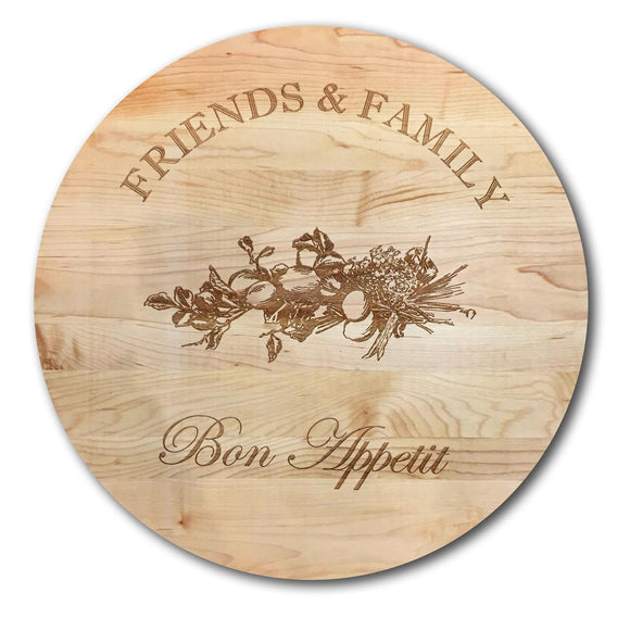 Handmade Lazy Susan Friends and Family Bon Appetit