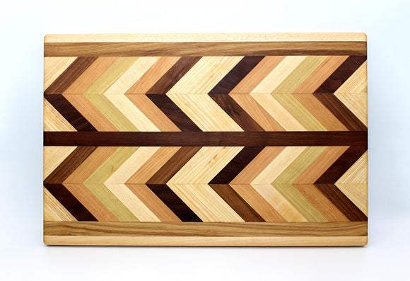 Herringbone End Grain Large Cutting Board