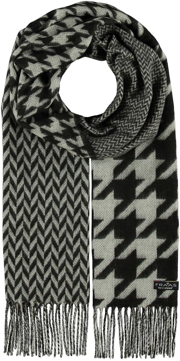 Houndstooth Scarf Black and White