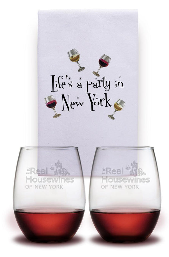 Housewines Glasses and Towel Gift Set