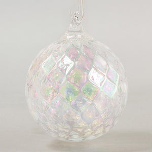 Illusion Diamond Facet Classic Round Ornament