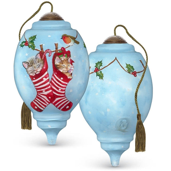 Kittens In Stockings Ornament