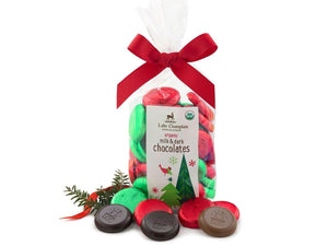 Lake Champlain Chocolates Christmas Chocolate Coin Bag