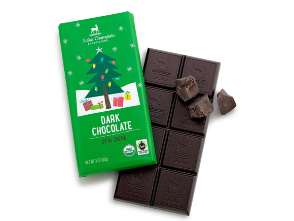 Lake Champlain Chocolates Dark Chocolate Christmas Bar