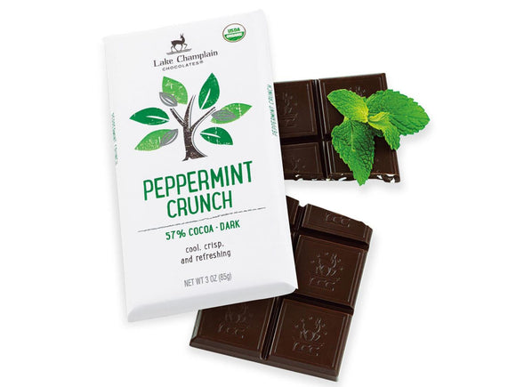 Lake Champlain Chocolates Dark Chocolate Peppermint Crunch Bar