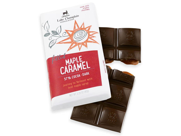 Lake Champlain Chocolates Maple Caramel Dark Chocolate Bar