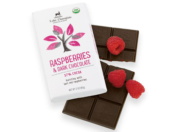 Lake Champlain Chocolates Raspberries & Dark Chocolate Bar