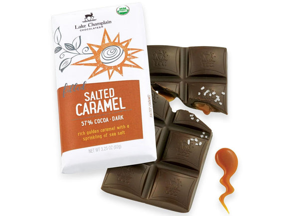 Lake Champlain Chocolates Salted Caramel Dark Chocolate Bar