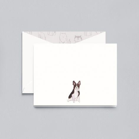 Lithographed French Bull Pearl White Boxed Notes