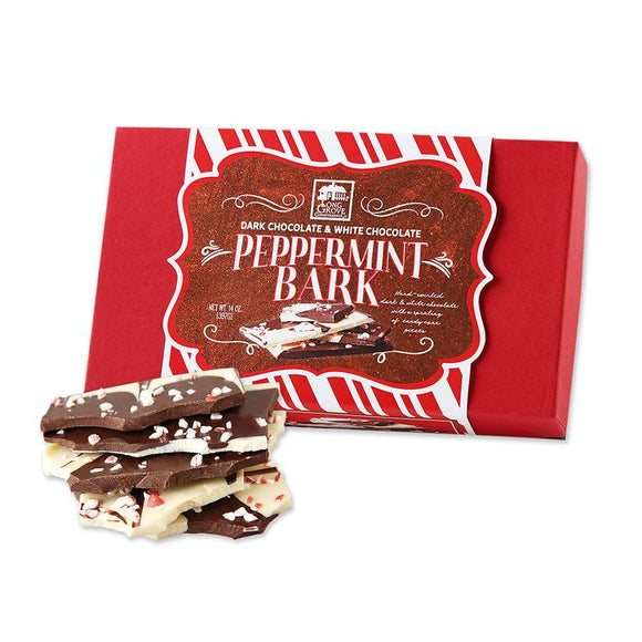 Long Grove Confectionery Dark Chocolate and White Chocolate Peppermint Bark