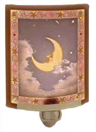 Man In The Moon Painted Nightlight