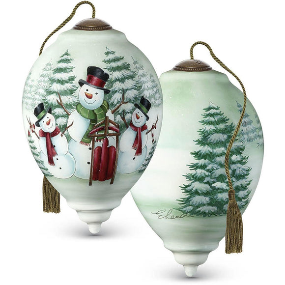 Merry Snowmen Ornament