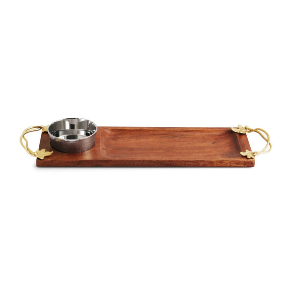 Michael Aram Ivy and Oak Dipping Board