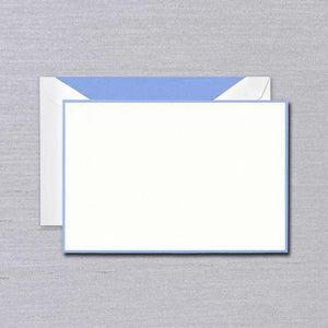 Newport Blue Bordered Pearl White Boxed Cards