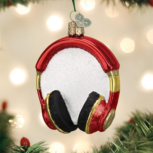 Old World Christmas Headphones Ornament
