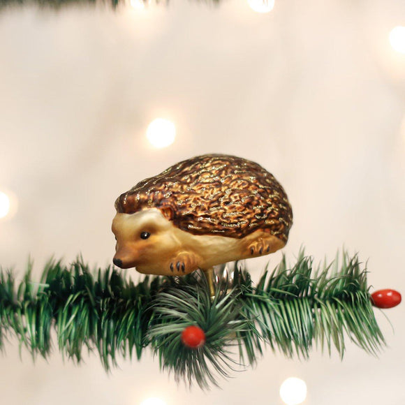 Old World Christmas Hedgehog Clip On Ornament
