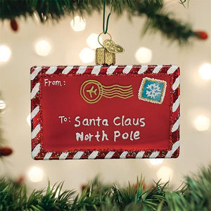 Old World Christmas Letter To Santa Ornament