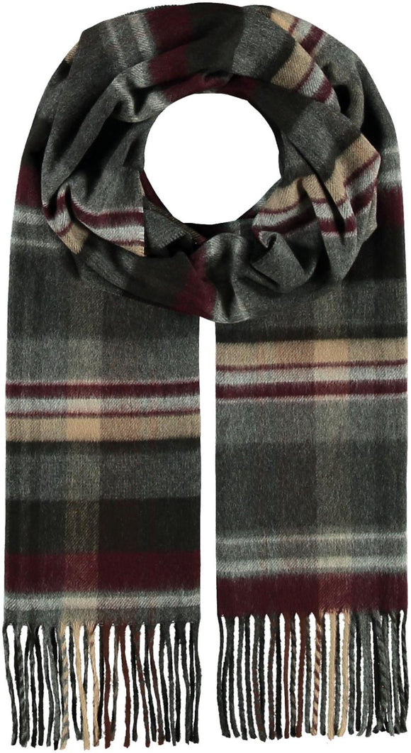 Plaid Check Scarf Black