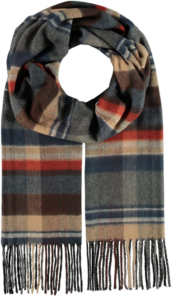 Plaid Check Scarf Chocolate
