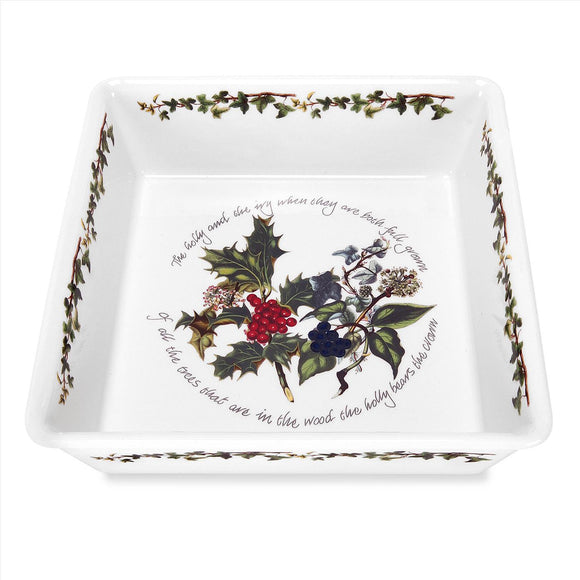 Portmeirion The Holly and The Ivy Square Dish
