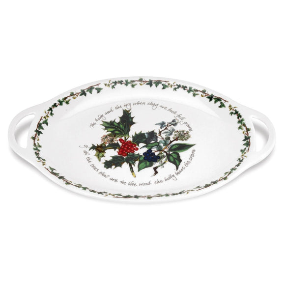 Portmeirion The Holly and The Ivy Oval Handled Platter