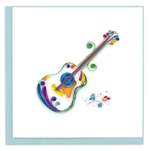 Quilled Acoustic Guitar Greeting Card